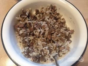 Печень с рисом в тесте - фото шаг 3