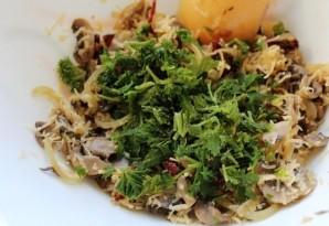 Рулет из индейки с грибами и помидорами - фото шаг 2