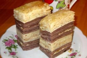 Блинный торт со сметаной и сгущенкой - фото шаг 3