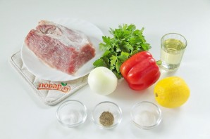 Свиные отбивные с лимоном и петрушкой - фото шаг 1
