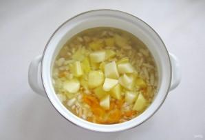 Суп с фасолью и сосисками - фото шаг 5