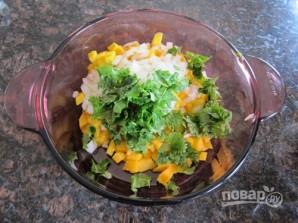 Салат с манго и зеленью - фото шаг 5
