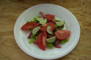 Салат испанский с копченой колбасой - фото шаг 6