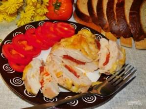 Запеченная куриная грудка с помидорами и чесноком - фото шаг 5