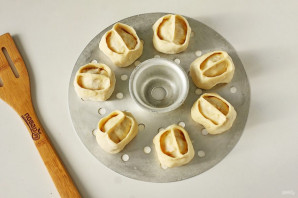 Постные манты с картошкой - фото шаг 12