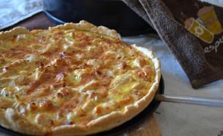 Пицца с курицей и колбасой - фото шаг 5
