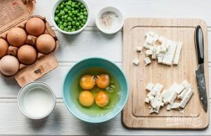 Киш с сыром, горошком и мятой - фото шаг 3