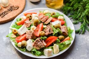 Салат с тунцом и фетой - фото шаг 6