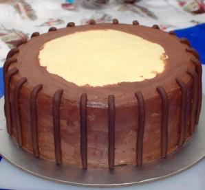 "Торт ""Корзина с цветами"" - фото шаг 3"