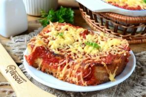 Бутерброды под сырно-томатной подушкой - фото шаг 10