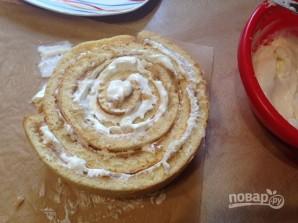 Торт из яблочного рулета - фото шаг 12