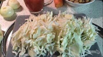 Борщ постный с фасолью - фото шаг 3
