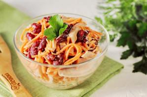 Салат с ветчиной, фасолью и корейской морковью - фото шаг 6
