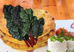 Осетинский пирог со свекольной ботвой  - фото шаг 6