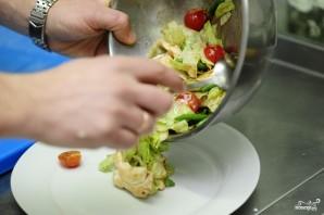 Салат из стручковой фасоли с курицей - фото шаг 17
