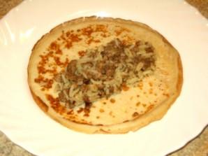 Блинчики с мясом и рисом - фото шаг 6