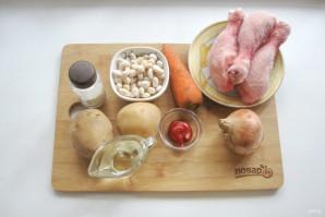 Томатный суп с фасолью и курицей - фото шаг 1