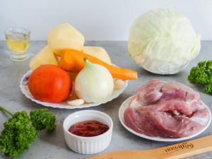 Капуста с мясом и картошкой в мультиварке - фото шаг 1