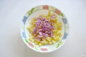 Картофельный салат с колбасой - фото шаг 2