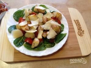 Теплый салат со шпинатом - фото шаг 8