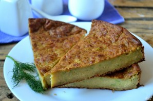 Пирог из кабачков с сыром - фото шаг 5