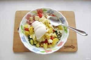 Салат с картошкой и ветчиной - фото шаг 8