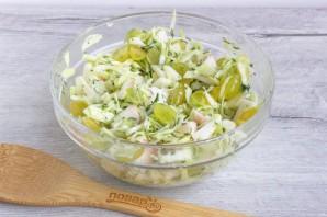 Салат из яблок и винограда - фото шаг 6
