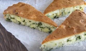 Заливной пирог с зеленым луком и яйцом - фото шаг 6