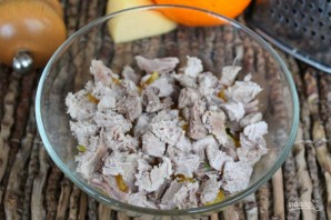 Салат из мяса с апельсином - фото шаг 7
