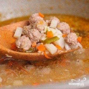 Суп с фрикадельками и помидорами - фото шаг 21
