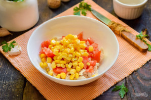 Салат с фасолью и брынзой - фото шаг 4