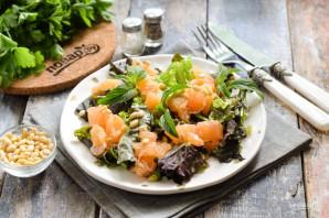 Салат с грейпфрутом и кедровыми орешками - фото шаг 6