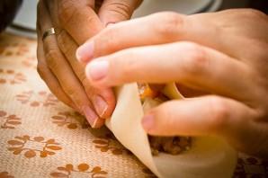 Манты с тыквой и мясом по-узбекски - фото шаг 6