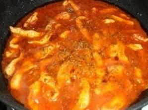 Соус с курицей для спагетти - фото шаг 7
