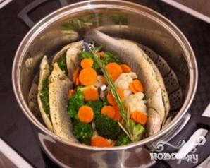 Сибас на пару с овощами - фото шаг 5
