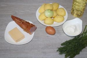 Драники с ветчиной, сыром и зеленью - фото шаг 1