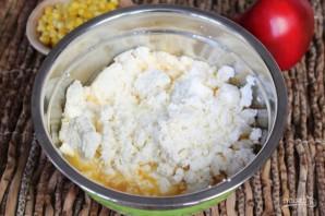 Творожная запеканка с болгарским перцем и кукурузой - фото шаг 3