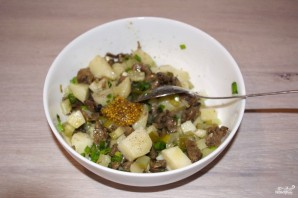Салат с вешенками - фото шаг 5