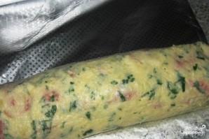 Мясной рулет в картофельной оболочке - фото шаг 3