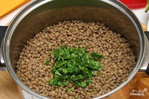 Салат из чечевицы с копченой рыбой - фото шаг 3