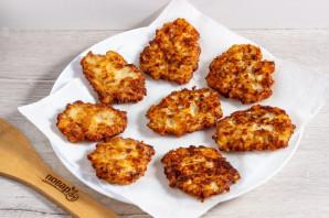Куриные оладьи с сыром на кефире - фото шаг 5