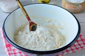 Постный пирог с персиками - фото шаг 5