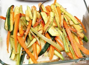 Семга с овощами - фото шаг 4