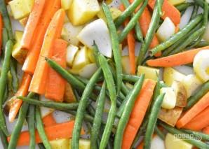 Запеченные овощи с медово-горчичной глазурью - фото шаг 2