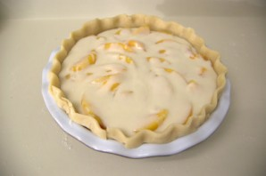 Персиковый пирог со сметанным кремом - фото шаг 5