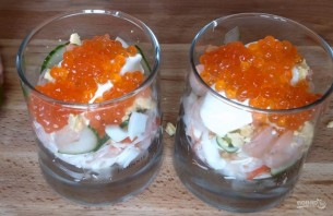 Новогодний салат-коктейль - фото шаг 8