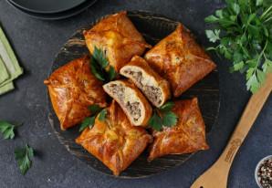 Конвертики с мясом и картошкой - фото шаг 11