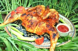 Курица на мангале целиком - фото шаг 8