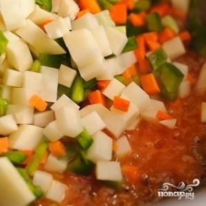 Суп с фрикадельками и помидорами - фото шаг 13