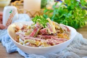 Салат с блинами и копченой колбасой - фото шаг 7